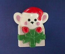 BUY1&GET1@50%~Avon PIN Christmas MOUSE in GIFT BOX Holiday Vtg Brooch HK