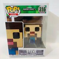 New in Package Vinyl Funko Pop, Games Minecraft Figure, #316 Steve