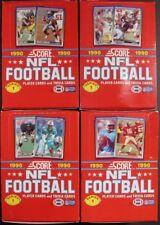 LOT OF 4 - 1990 SCORE FOOTBALL SERIES 1 FACTORY WAX BOX