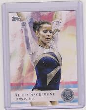 2012 TOPPS OLYMPIC ALICIA SACRAMONE GYMNASTICS SILVER CARD #11 ~ MULTIPLES