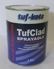 TufClad 9220 - Sound Deadening Coating : Sprayable / Brushable BLACK Waterbased