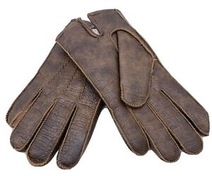 Vintage JC Penny Gloves Brown Vinyl Shell 100% Polyester Lining Size M 9-9.5