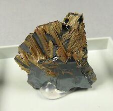 Rutile & Specular Hematite crystals. Natural mineral. 4 gms (0.14 oz).