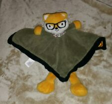 "Baby Starters Fox Cat with Glasses and Bow Tie Lovey Security Blanket 10""×10"""