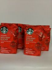 Starbucks Holiday  Blend 2019 Ground Coffee Medium Roast 4 Pack (10 ounce)