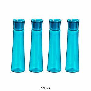Plastik Kühlschrank Wasserflasche Set 4 Teile, 1 I, Blau