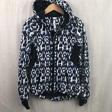 LULULEMON Size 4 Black Blue Sprinkler Ikat DOWNTIME Hoodie Jacket M12