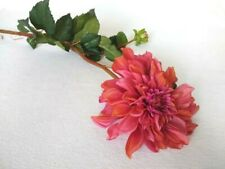 """41"""" Pink/Red Dahlia Artificial Flower Stems Pack of 5, New"""