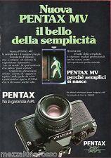 Pubblicità Advertising 1980 PENTAX MV
