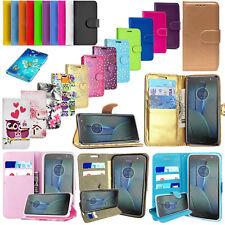 Para Motorola Moto C/E4 Plus/G5/G5+ teléfonos móviles-Billetera Abatible Cuero Estuche Cubierta