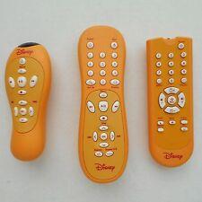 Lot of 3 Orange Walt Disney TV, DVD & Video (or Stereo?) Remote Controls