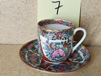 Vintage Demitasse Tea Cup & Saucer Hand Decorated in Hong Kong #7