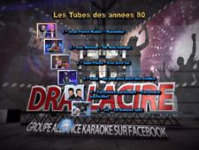 "!!!NEW!!!DVD Karaoké multipistes ""Les tubes des années 80"" (30 titres home made)"