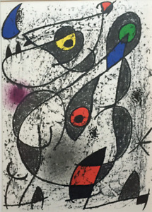 JOAN MIRO A L'Encre II Original Lithograph 1972 by Arte in Paris (Cramer 161)