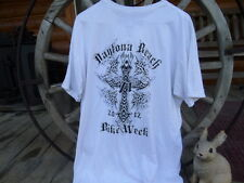 L Bob Marley BillaBong 2012 Daytona Beach Bike Week T-Shirt Motorcycle Goth Look