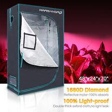 """Mars 48""""x24""""x70"""" Indoor Grow Tent Hydroponics Reflective NonToxic Room Hut 1680D"""