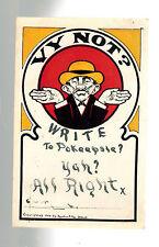 1904 Poughkeepsie NY Postcard Cover Jew Judaica Yiddish Vy Not Write?