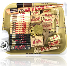 Smoking Giant Christmas Tray Gift Set Rolling Papers Grinder Raw Bundle Cone