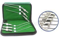Tube d'aspiration Frazier Dentaire Chirurgical aspirateur Instruments ENT Ensemble de 6 tubes ce