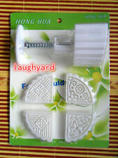 New version Best-selling triangle fan shape Pastry moon cake mold 50g 4 stamps