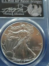 2017-(S) STRUCK at SAN FRANCISCO HAND SIGNED CLEVELAND SILVER EAGLE