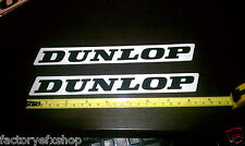 2 Factory Dunlop Tire White Decals Sticker Graphics Swingarm Decal Race Bike