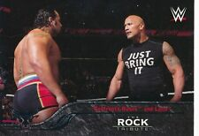 #37 CONFRONTS RUSEV & LANA 2016 Topps WWE Then Now Forever THE ROCK TRIBUTE