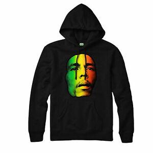 Bob Marley Hoodie, Hip Hop Jamaican Singer Songwriter Adult & Kids Hoodie Top