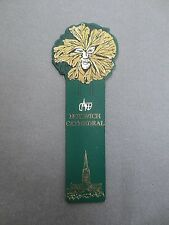 Leather BOOKMARK Norwich Cathedral Exterior Spire Ceiling Boss Shaped Man's Face