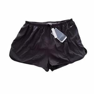 BNWT DEADSTOCK NIKE REFLECTIVE SPLIT LEG BLACK RUNNING SHORTS UK WOMENS XL 16/18
