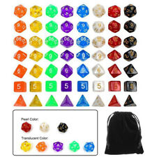 8Sets/56X Polyhedral Dice For Dungeons & Dragons DND RPG MTG Board Games Acrylic