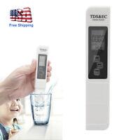 3in1 TDS & EC Meter Tester Digital LCD Temperature Water Quality Purity Pen Tool