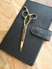 "BRAND NEW JOEWELL GOLD FC CLASSIC OFFSET SERIES 5,5""HAIRDRESSING SCISSORS+CASE"