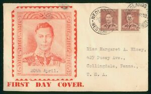 Mayfairstamps Australia FDC 1938 1 1/2d Pair Royalty First Day Cover wwp79805