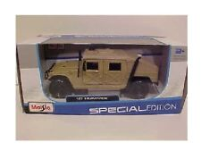 Humvee Hummer Army Military Truck Diecast 1:27 Tan Maisto 8in Desert Storm 1/24
