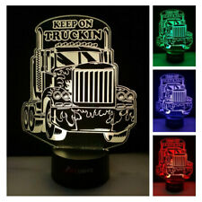 Semi Truck LED Night Light Changing Colours Remote Child or Adult