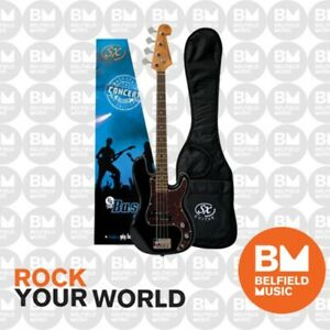 SX Bass Guitar Short Scale 3/4 Size 30inch Black - VEP34B - Brand New