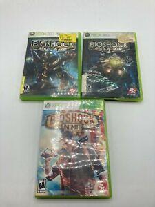 Microsoft Xbox 360 Tested Bioshock Trilogy 1 2 3 Infinite Bundle LOT