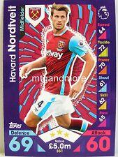 Match Attax 2016/17 Premier League - #351 Havard Nordveit - West Ham United