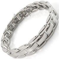 MAGNETIC BRACELET pain relief carpal tunnel arthritis Ladies Womens silver Gents