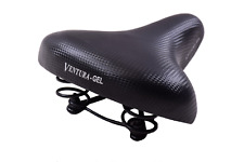 Ventura Coil Sprung Gel Comfort Padded Big Bum Wide Bike Saddle Soft Seat Black