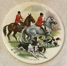 Fox Hunt Hunting Ceramic Round Hot Plate