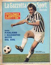 rivista LA GAZZETTA DELLO SPORT ILUSTRATA ANNO 1980 N. 39 ROBERTO BETTEGA