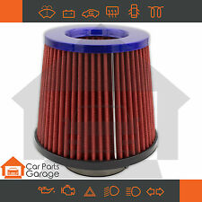 """SAAS High Flow Red Pod Filter Blue Top 3"""" / 76mm Urethane Base Turbo Approved"""