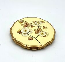 Vintage 1950's Stratton ladies compact with mirror. Autumnal Floral Design