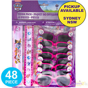 PAW PATROL PINK GIRLS PARTY SUPPLIES 48 LOOT BAG BIRTHDAY FAVOURS PINATA FILLER