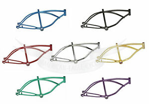 """20"""" INCH LOWRIDER BIKE BICYCLE FRAME METALLIC CRUISER CHOPPER CYCLING MANY COLOR"""