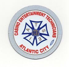 IATSE Local 917 Atlantic City Stagehands Union Refrigerator / Bumper Magnet