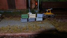 Set 6 casse tipo legno verniciatada stazione tipo FS o altro scenario scala HO