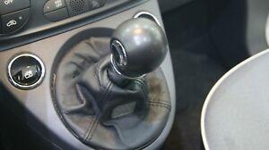 Fiat 500 Schaltknauf und Schaltsack Schalthebel Leder schwarz Original Zubehör